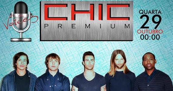 Chic Voices Maroon Five Edition acontece na Bubu Lounge Disco Eventos BaresSP 570x300 imagem