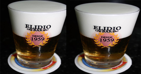 Chopp gelado com porções variadas no happy hour do Elidio Bar Eventos BaresSP 570x300 imagem
