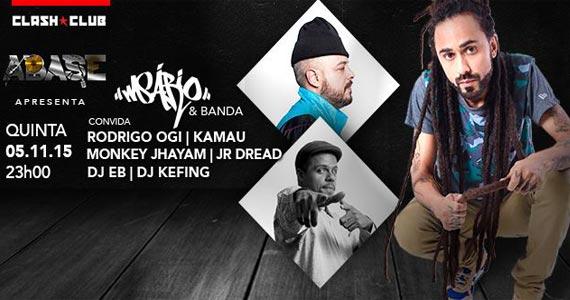 Clash Club recebe show do rapper Msário e convidados na quinta Eventos BaresSP 570x300 imagem