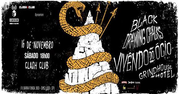 Sábado tem banda Black Drawing Chalks agitando a noite da Clash Club Eventos BaresSP 570x300 imagem