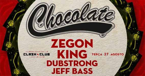 Festa Chocolate agita terça-feira na Clash Club com DJ King e Zegon Eventos BaresSP 570x300 imagem