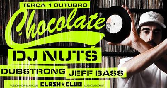 Dj Nuts agita a festa Chocolate nesta terça na Clash Club Eventos BaresSP 570x300 imagem