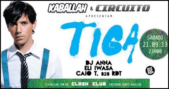 Festa Kaballah & Circuito agita o sábado na Clash Club com o DJ internacional Tiga Eventos BaresSP 570x300 imagem