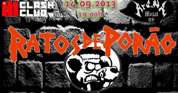 Ratos de Porão se apresenta neste sábado na Clash Club Eventos BaresSP 570x300 imagem
