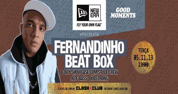 Festa Good Moments com Fernandinho Beat Box animando a pista desta terça-feira na Clash Club Eventos BaresSP 570x300 imagem