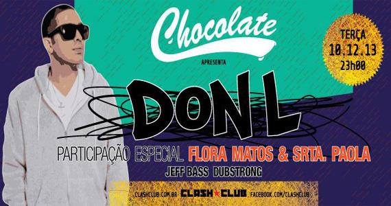 Clash Club recebe festa Chocolate com DON L e participação especial de Flora Matos e Srta. Paola Eventos BaresSP 570x300 imagem