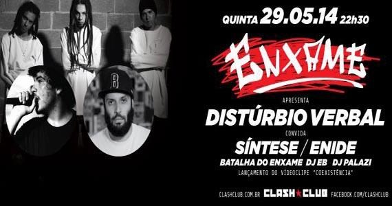 Nesta quinta-feira a Clash Club recebe a festa Enxame com Disturbio Verbal Eventos BaresSP 570x300 imagem