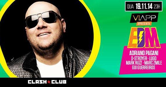 Viapp apresenta EDM com Adriano Pagani e convidados especiais na Clash Club Eventos BaresSP 570x300 imagem