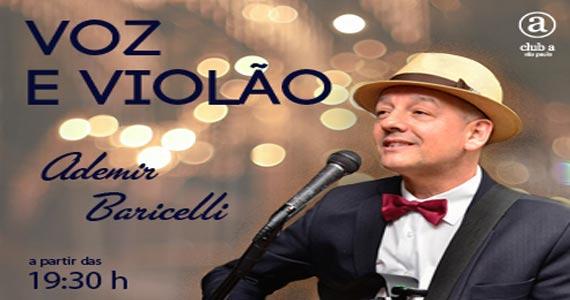 Música ao vivo com Ademir Baricelli no Club A São Paulo segunda feira Eventos BaresSP 570x300 imagem