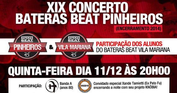 A Lanterna apresenta XIX Concerto Bateras Beat Pinheiros Eventos BaresSP 570x300 imagem