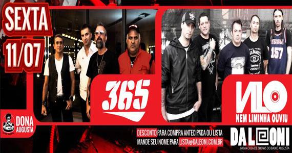 Grupos 365 e NLO se apresentam no palco do Da Leoni nesta sexta-feira Eventos BaresSP 570x300 imagem