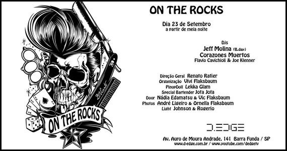 On The Rocks agita a segunda-feira na D-Edge com Corazones Muertos Eventos BaresSP 570x300 imagem