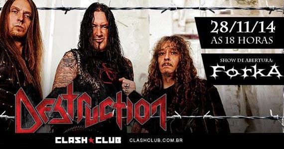 Banda de heavy metal alemã Destruction se apresenta com a turnê Brazilian Thrash Assault 2014 na Clash Club Eventos BaresSP 570x300 imagem