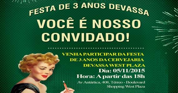 Aniversário da Devassa West Plaza apresenta show de Pepê e Neném Eventos BaresSP 570x300 imagem
