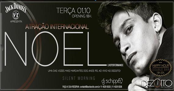 Cantor internacional Noel se apresenta no palco do Dezoito Bar nesta terça-feira Eventos BaresSP 570x300 imagem