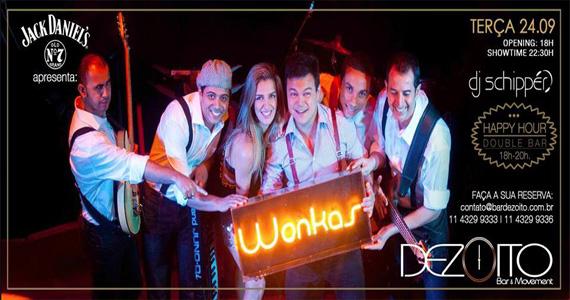 Banda wonkas agita a noite de terça-feira com muita música no Dezoito Bar Eventos BaresSP 570x300 imagem