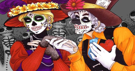 Rey Castro celebra Halloween em estilo de Dia de los Muertos do México Eventos BaresSP 570x300 imagem