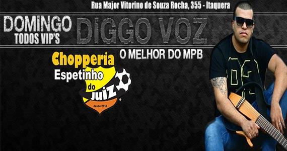 Chopperia Espetinho do Juiz Itaquera recepciona o cantor Diggo Voz Eventos BaresSP 570x300 imagem