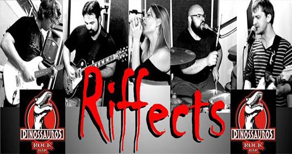 Banda Riffects agita a noite com muito rock no palco do Dinossauros Rock Bar Eventos BaresSP 570x300 imagem