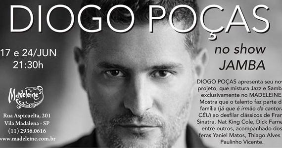 Diogo Poças e seu show inédito Jamba embala a noite de terça-feira no Bar Madeleine Eventos BaresSP 570x300 imagem