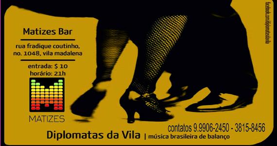 Matizes Bar recebe os agitos de Diplomatas da Vila Eventos BaresSP 570x300 imagem