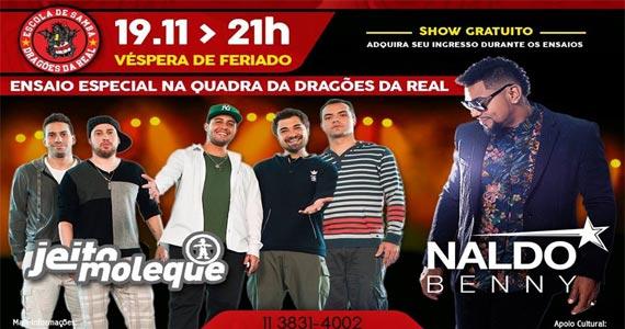 Grupo Jeito Moleque e Naldo Benny animam a quadra da Dragões da Real Eventos BaresSP 570x300 imagem