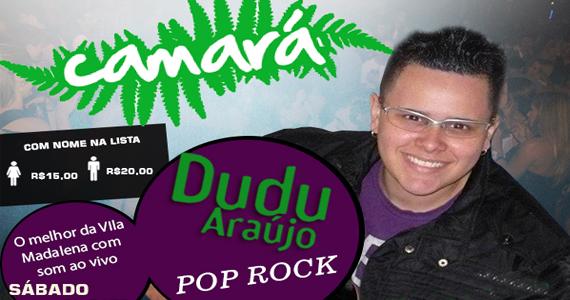 Bar Camará recebe Dudu Araújo para animar a noite de sábado ao som de muito pop rock Eventos BaresSP 570x300 imagem