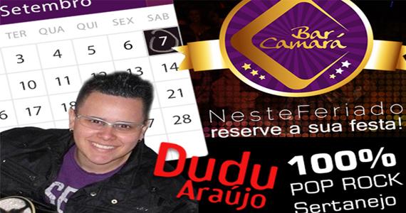 Dudu Araújo se apresenta neste sábado no Bar Camará com o melhor do pop rock e sertanejo Eventos BaresSP 570x300 imagem