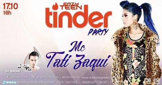 Eazy recebe a Festa Eazy Teen Tinder Party com MC Tati Zaqui e convidados Eventos BaresSP 570x300 imagem