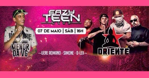 Eazy Teen Club tem shows de Mc Menor da VG e Oriente no sábado  Eventos BaresSP 570x300 imagem