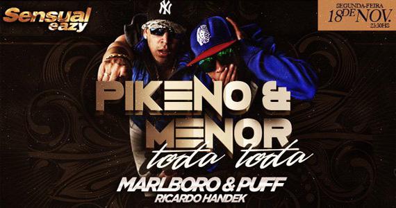 Apresentação de Pikeno & Menor no palco da Eazy neste segunda-feira Eventos BaresSP 570x300 imagem