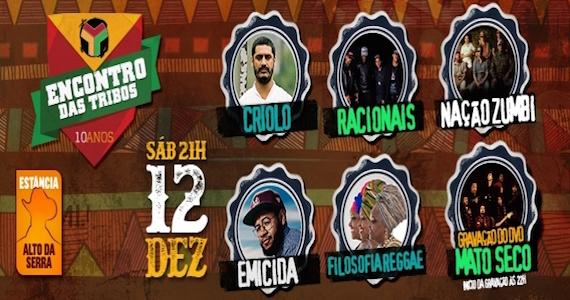 Estância Alto da Serra promove o Encontro das Tribos com shows de Criolo, Emicida, Racionais, Nação Zumbi e mais Eventos BaresSP 570x300 imagem