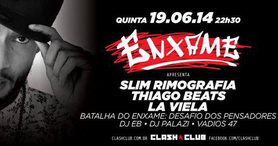 Projeto Enxame invade a balada Clash Club neste feriado de Corpus Christi Eventos BaresSP 570x300 imagem