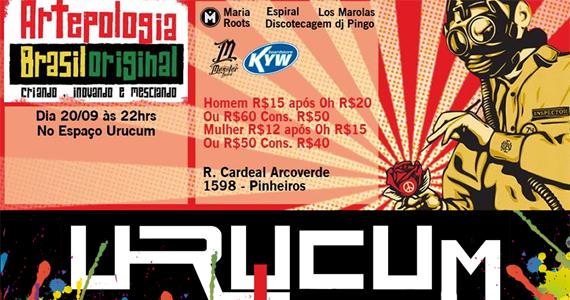 Espaço Urucum recebe a festa Artepologia Brasil Original nesta sexta-feira Eventos BaresSP 570x300 imagem