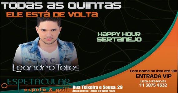 Leandro Telles anima o Happy hour do Espetacular Espeto & Grill Eventos BaresSP 570x300 imagem