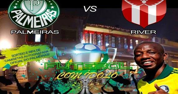 Futebol com o Ídolo acontece hoje na Espetaria Mada com transmissão do jogo do Palmeiras e River Plate  Eventos BaresSP 570x300 imagem