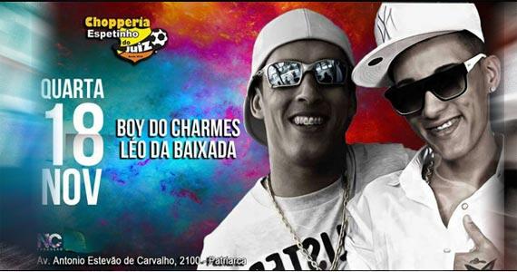 MC Léo da Baixada e Boy do Charmes animam o Espetinho do Juiz Eventos BaresSP 570x300 imagem