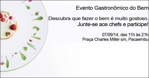 Evento Gastrônomico do Bem neste domingo com delícias feitas por chefs no Pacaembu Eventos BaresSP 570x300 imagem
