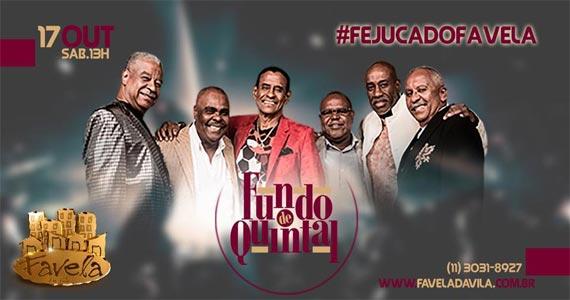 Grupo Fundo de Quintal toca sucessos da carreira no Favela da Vila Eventos BaresSP 570x300 imagem