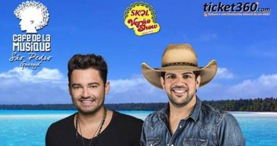 Fernando & Sorocaba cantam sucessos da carreira no Café de La Musique Beach Club Eventos BaresSP 570x300 imagem