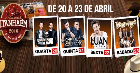 Festa do Peão de Itanhaém tem shows com Luan Santana, Turma do Pagode e convidados Eventos BaresSP 570x300 imagem