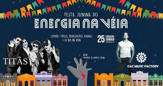 Festa Junina da Véia agita o Memorial da América Latina com show dos Titãs Eventos BaresSP 570x300 imagem