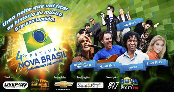 4º Festival Nova Brasil FM reúne grandes nomes da MPB na Arena Anhembi Eventos BaresSP 570x300 imagem