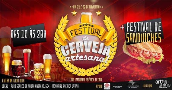 Memorial da América Latina recebe o Festival de Cervejas Artesanais  Eventos BaresSP 570x300 imagem