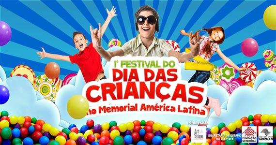 Memorial da América Latina recebe o Festival do Dia das Crianças com muitas atrações Eventos BaresSP 570x300 imagem