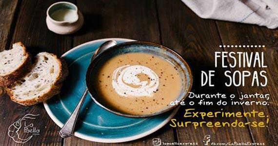Festival de Sopas para aquecer o frio acontece na La Paella Express Eventos BaresSP 570x300 imagem