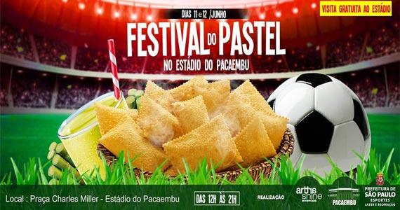 Festival do Pastel tem várias opções de sabores no Estádio do Pacaembu Eventos BaresSP 570x300 imagem