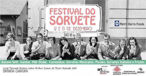 Memorial da América Latina apresenta o 4º Festival de Sorvetes com muitas atrações Eventos BaresSP 570x300 imagem
