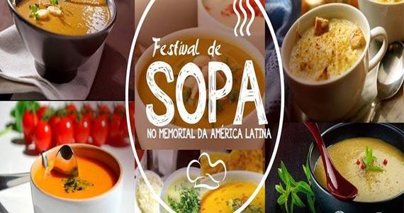 Festival de Sopas traz muitas delícias para o Memorial da América Latina  Eventos BaresSP 570x300 imagem