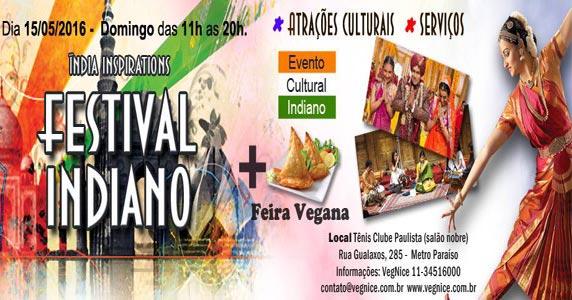 Festival Indiano acontece no Paraíso com culinária vegana e muitas atrações Eventos BaresSP 570x300 imagem